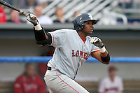 Lowell Spinners Jorge Jimenez during a NY-Penn League game at Dwyer Stadium on July 22, 2006 in Batavia, New York.  (Mike Janes/Four Seam Images)