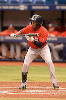 Boston Red Sox outfielder Luis Alexander Basabe (37) during an Instructional League game against the Tampa Bay Rays on September 25, 2014 at Tropicana Field in St. Petersburg, Florida.  (Mike Janes/Four Seam Images)