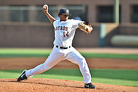 Greeneville Astros pitcher Joselo Pinales (14) delivers a pitch during a game against the  Pulaski Yankees on July 11, 2015 in Greeneville, Tennessee. The Yankees defeated the Astros 9-3. (Tony Farlow/Four Seam Images)