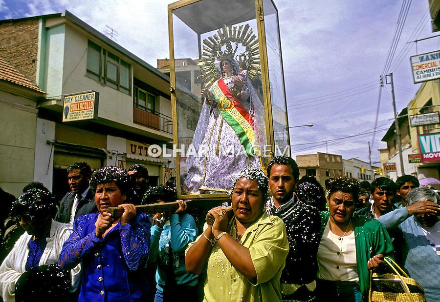 Procissão da virgem de Urkupinã. Quillacollo. Bolivia. 1992. Foto de Salomon Cytrynowicz.