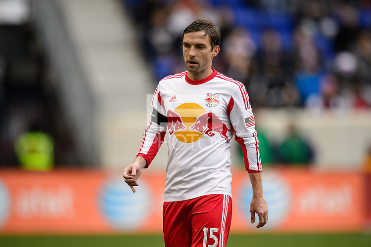 Bobby Convey (15) of the New York Red Bulls. The New York Red Bulls and Chivas USA played to a 1-1 tie during a Major League Soccer (MLS) match at Red Bull Arena in Harrison, NJ, on March 30, 2014.
