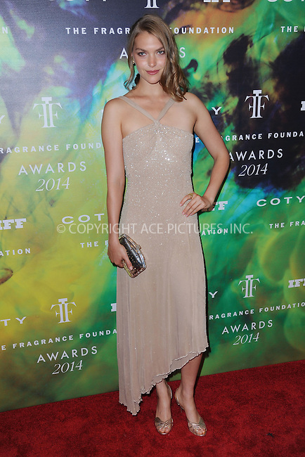 WWW.ACEPIXS.COM<br /> June 16, 2014 New York City<br /> <br /> Arizona Muse attending the 2014 Fragrance Foundation Awards on June 16, 2014 in New York City.<br /> <br /> Please byline: Kristin Callahan/AcePictures<br /> <br /> ACEPIXS.COM<br /> <br /> Tel: (212) 243 8787 or (646) 769 0430<br /> e-mail: info@acepixs.com<br /> web: http://www.acepixs.com