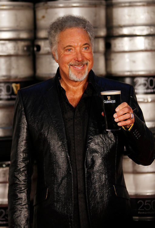 NO Fee for repro..DUBLIN, IRELAND, September 24: Sir Tom Jones, pictured here during Arthur's Day, the Guinness 250th anniversary celebrations. The Arthur's Day global events see fans come together to experience live music in over 30 intimate venues across Dublin including a concert at the world famous St. James's Gate brewery.  Celebrations are also taking place around the globe, including New York, Lagos, and Kuala Lumpur to mark this remarkable milestone. Pic Robbie Reynolds