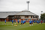 A light training session at Rangers ahead of tomorrow's game