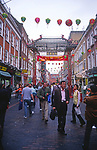 AWFP76 Large arches at entrance to  Chinatown Soho London England