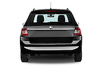 Straight rear view of a 2015 Skoda Fabia Ambition 5 Door Wagon Rear View  stock images