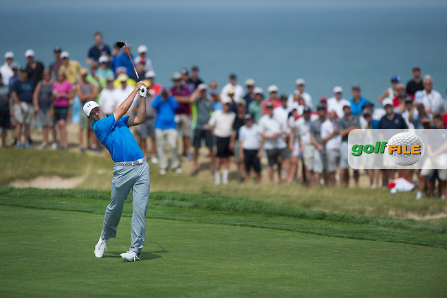 Jordan Spieth (USA) in action during the final round of the 2015 USPGA Championship at Whistling Straits (Photo: Anthony Powter)