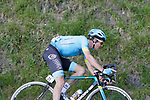 Jakob Fuglsang (DEN) Astana Pro Team 1 minute down at the end of Stage 5 of the Tour of the Basque Country 2019 running 149.8km from Arrigorriaga to Arrate, Spain. 12th April 2019.<br /> Picture: Colin Flockton | Cyclefile<br /> <br /> <br /> All photos usage must carry mandatory copyright credit (&copy; Cyclefile | Colin Flockton)