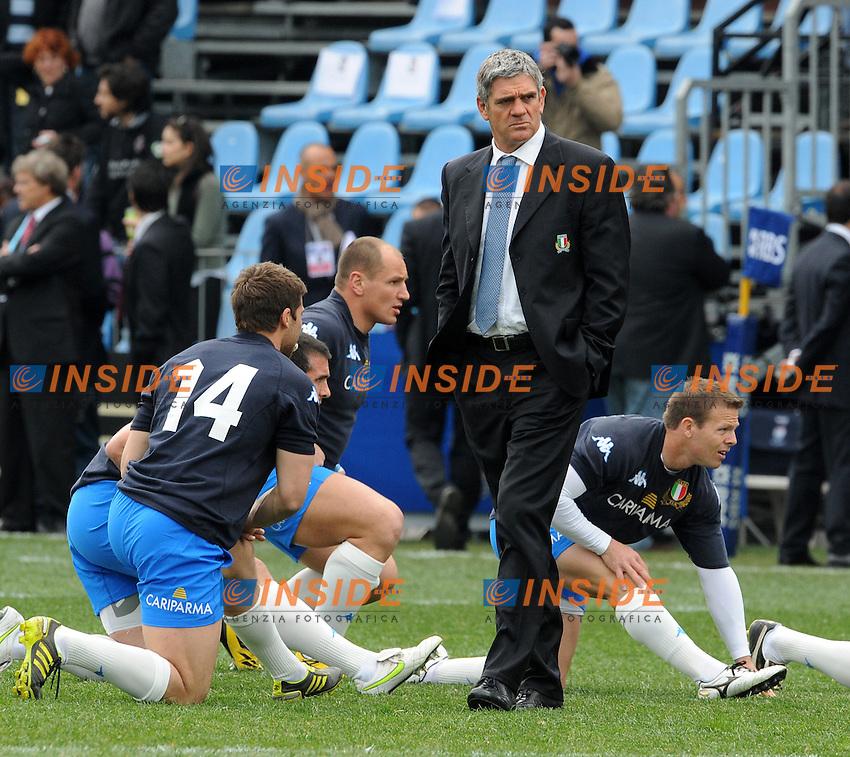 Nick Mallett, allenatore dell'Italia<br /> Italia vs Francia  22-21<br /> RBS 6 Nations Rugby Championship 2011<br /> Stadio Flaminio;<br /> Roma, 12/03/2011<br /> Photo Antonietta Baldassarre Insidefoto