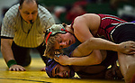 hamiltonp6 - Luis Resendiz of Bradley Tech, one their best wrestlers loses to Hunter Weber of Marshall, in Milwaukee on Thursday, December 23, 2010. Photographed by MARK ABRAMSON/MABRAMSON@JOURNALSENTINEL.COM