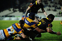 Asofa Aumua scores during the Mitre 10 Cup rugby union match between Bay of Plenty and Wellington at Rotorua International Stadium in Rotorua, New Zealand on Thursday, 31 August 2017. Photo: Dave Lintott / lintottphoto.co.nz
