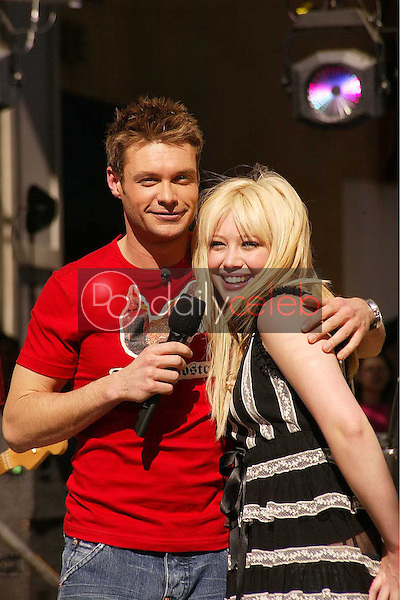 Ryan Seacrest and Hilary Duff