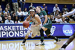20 March 2015: Mississippi State's Dominique Dillingham (00) an Tulane's Danielle Blagg (20). The Mississippi State University Bulldogs played the Tulane University Green Wave at Cameron Indoor Stadium in Durham, North Carolina in a 2014-15 NCAA Division I Women's Basketball Tournament first round game.