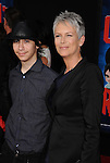HOLLYWOOD, CA - OCTOBER 29: Jamie Lee Curtis and Thomas Guest arrive at the Los Angeles premiere of 'Wreck-It Ralph' at the El Capitan Theatre on October 29, 2012 in Hollywood, California.