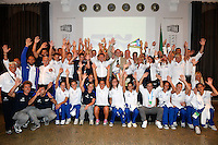 Visita delle nazionali italiane di Tuffi e Nuoto sincronizzato alla Casa degli italiani di Barcellona <br /> Barcellona 18/7/2013 <br /> Barcelona 2013 15 Fina World Championships Aquatics <br /> Foto Andrea Staccioli Insidefoto