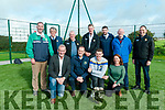 Official Opening : Pictured at the oficila opening the the new astro turf pitch & hurling was at Ballyduff GAA grounds were in front Cllr. Mike Kennelly, Maurice  O'Connor, Chairman Ballyduff GAA, Tiperary star Ronan Maher & Elaine Curley, Chairperson fund raising committee . Back : Liam Ross, Liam Lenihan, Chairman Munster hurling, Ger McCarthy, NK Hurling, Tim Murphy, Chairman Kerry County Board, Minister Brendan Griffin, John Brassil TD & Eamonn Whelan, Kerry Co. Board.