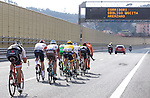 The peloton diverted onto the motorway due to a landslide blocking the original route during the 2016 Milan-San Remo race, running 293km from Milan to San Remo, Italy. 19th March 2016.<br /> Picture: ANSA/Claudio Peri | Newsfile<br /> <br /> <br /> All photos usage must carry mandatory copyright credit (© Newsfile | Claudio Peri)