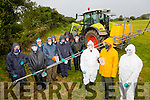 NEKD Spraying demo, highlighting the New regulations on spraying for Farmers at Camp Community Centre on Friday. Pictured Front l-r Tom Crean, Andrew Fitzgerald, Niamh Foley, demonstrator An Tóchar Adult Education Centre, Causeway and food Skill net Group, Back l-r Patrick Bailey, Pat Sayers, John McKenna, Dan Buckley, Tadhg Galvin, Tim Quirke, John Murphy and John Sayers