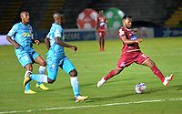 IBAGUE - COLOMBIA, 10-08-2018: Luis Gonzalez (Der) jugaro del Tolima en acción durante el encuentro entre Deportes Tolima y Jaguares de Cordoba por la fecha 4 de la Liga Águila II 2018 jugado en el estadio Manuel Murillo Toro de Ibagué. / Luis Gonzalez, player of Tolima, in action during the match between Deportes Tolima and Jaguares de Cordoba for date 4 of the Aguila League II 2018 played at Manuel Murillo Toro stadium in Ibague city. Photo: VizzorImage/ Juan Carlos Escobar / Contribuidor