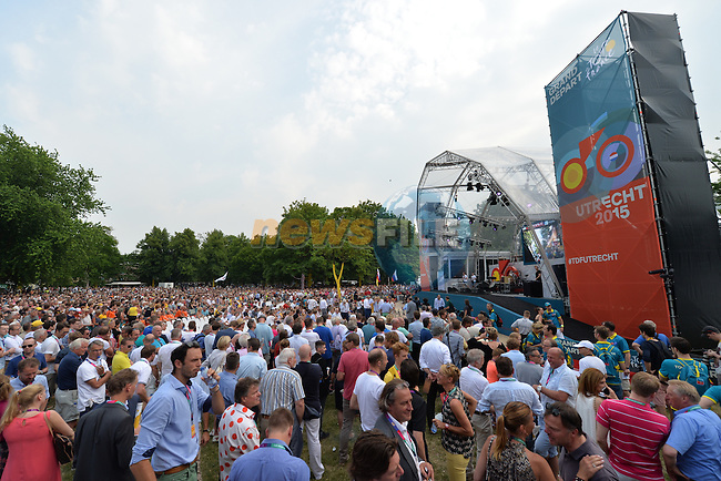 Large crowd at the team presentations before the start of the 2015 Tour de France in Utrecht, Netherlands. 2nd July 2015.<br />
