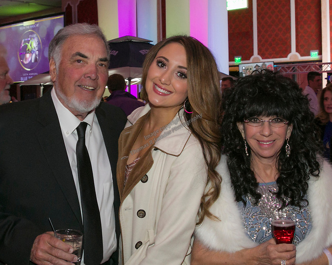 Dick and Mary Campagini with daughter Ashton Milligan during the 10th Annual Blue Tie Ball at the Peppermill Resort Spa Casino in Reno, NV on Friday night, Feb. 1, 2019.