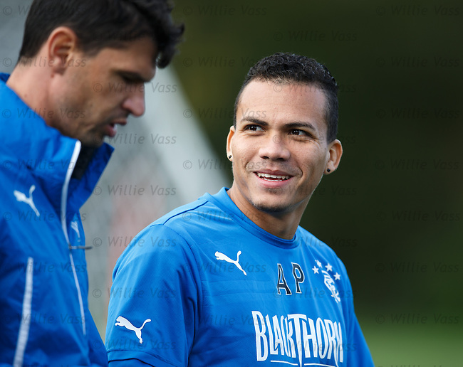 Arnold Peralta with his translator