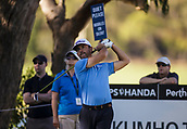 9th February 2018, Lake Karrinyup Country Club, Karrinyup, Australia; ISPS HANDA World Super 6 Perth golf, second round; Wade Ormsby (AUS SA) plays a shot