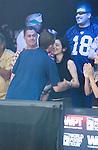 Joe Pelton hugs girlfriend, Shiera Ben-Dev.