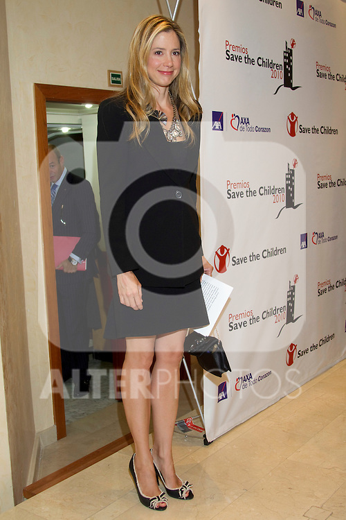 MADRID, (28/09/2010).- American actress Mira Sorvino and Nobel award winner Shirin Ebadi attend press Conference to announce winners of 'Save the Children 2010 Awards'...Photo: Cear Cebolla / ALFAQUI