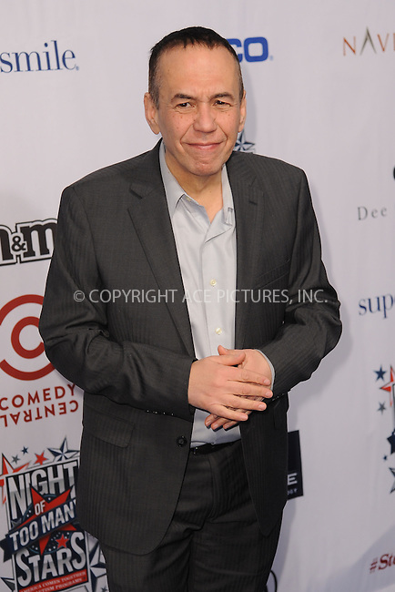 WWW.ACEPIXS.COM<br /> February 28, 2015 New York City<br /> <br /> Gilbert Gottfried attending Comedy Central Night Of Too Many Stars at Beacon Theatre on February 28, 2015 in New York City.<br /> <br /> Please byline: Kristin Callahan/AcePictures<br /> <br /> ACEPIXS.COM<br /> <br /> Tel: (646) 769 0430<br /> e-mail: info@acepixs.com<br /> web: http://www.acepixs.com