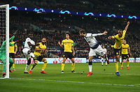Tottenham Hotspur's Fernando Llorente scores his side's third goal <br /> <br /> Photographer Rob Newell/CameraSport<br /> <br /> UEFA Champions League Round of 16 First Leg - Tottenham Hotspur v Borussia Dortmund - Wednesday 13th February 2019 - Wembley Stadium - London<br />  <br /> World Copyright © 2018 CameraSport. All rights reserved. 43 Linden Ave. Countesthorpe. Leicester. England. LE8 5PG - Tel: +44 (0) 116 277 4147 - admin@camerasport.com - www.camerasport.com