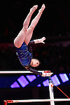 Gymnastics World Championships Womens Team Finals 27.10.15. Great Britain in action. Ruby Harold .Rebecca Downie.