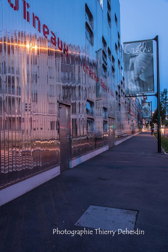 Issy les Moulineaux, la crèche Baby d'Issy depuis le quai de la bataille de Stalingrad