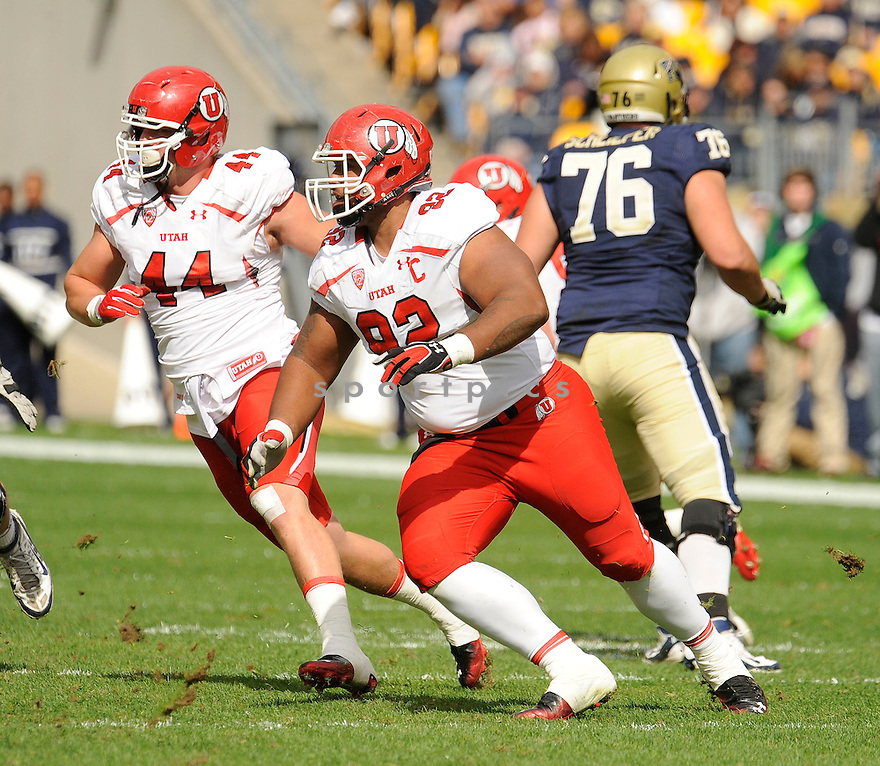 STAR LOTULELEI, of the Utah Utes, in action, during Utah's game against the Pittsburgh Panthers on October 15, 2011 at Heinz Field in Pittsburgh, PA. Utah beat Pitt 26-14.