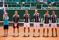 Austria, Kitzbühel, Juli 17, 2015, Tennis, Davis Cup, Presentation of the teams: team Netherlands<br /> Photo: Tennisimages/Henk Koster