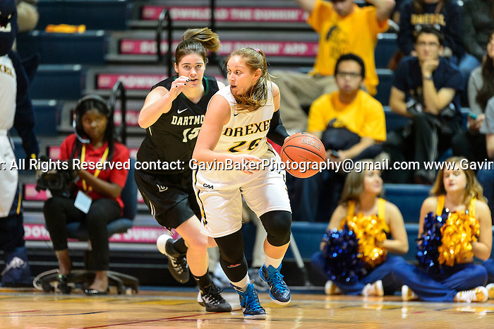 13 November 2015:  WNCAAB Dartmouth @ Drexel at Daskalakis Athletic Center in Philadlephia, PA. (Photo by Gavin Baker)