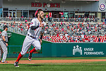 20 September 2015: Washington Nationals outfielder Bryce Harper rounds third on his way to score in the first inning against the Miami Marlins at Nationals Park in Washington, DC. The Nationals defeated the Marlins 13-3 to take the final game of their 4-game series. Mandatory Credit: Ed Wolfstein Photo *** RAW (NEF) Image File Available ***