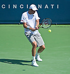 Mardy Fish (USA) defeats Nikolay Davydenko (RUS) at the Western and Southern Financial Group Masters Series in Cincinnati on August 17, 2011.  Fish won, 6-0, 6-2.