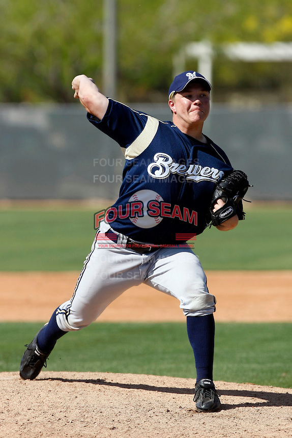 Liam Ohmann - Milwaukee Brewers - 2009 spring training.Photo by:  Bill Mitchell/Four Seam Images