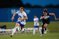 Boston Breakers defender Maddy Evans (18). Sky Blue FC defeated the Boston Breakers 5-1 during a National Women's Soccer League (NWSL) match at Yurcak Field in Piscataway, NJ, on June 1, 2013.