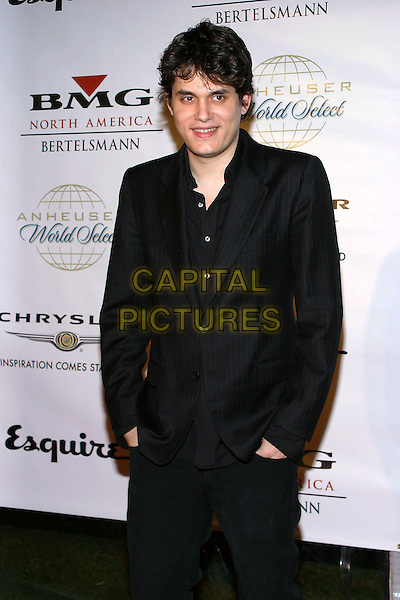 JOHN MAYER.Clive Davis Hosts A Celebration Of The American Music Awards held at The Esquire House. .14 November 2004.half length, hands in pockets, black suit jacket.www.capitalpictures.com.sales@capitalpictures.com.© Capital Pictures.