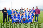 The Renard U12's side who defeated St Mary's Cahersiveen in the Final of the Mick O'Dwyer U12 Blitz held in Waterville on Friday were front l-r; Breece O'Sullivan,Brian Quinlan, Ronan Teahan, Brian O'Sullivan, Conor O'Shea, Aodhán O'Neill, back l-r; Michael Sheehan, Joe McCrohan, Thomas Kelly, Kenneth O'Neill, Conor O'Neill, Mick O'Dwyer, Sam O'Driscoll, Kieran Corcoran, Aaron Galvin, Ciaran O'Connell & Brendan Kelly and missing Fionán Keating.