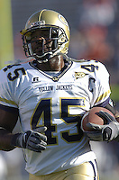 12 November 2005: P.J. Daniels (45)..The Virginia Cavaliers defeated the Georgia Tech Yellow Jackets 27-17 at Scott Stadium in Charlottesville, VA.