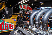 Jul 8, 2017; Joliet, IL, USA; Crew members for NHRA top fuel driver Leah Pritchett during qualifying for the Route 66 Nationals at Route 66 Raceway. Mandatory Credit: Mark J. Rebilas-USA TODAY Sports