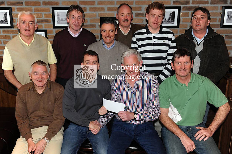 At the presentation of prizes in Scotts Hotel of  the Dr Crokes GAA Club Golf Society first outing of 2012 at the Lackabane Course, Killarney, on Saturday were front from left, Tom Looney, Maurice O'Donoghue, Scotts Hotel, sponsor, Mike Buckley, winner and Martin Byrnes, Captain. Back from left are Christy Sheehan, Mike Howard, Harry O'Neill, Der Brosnan, Vincent Casey and Johnny O'Connor. Picture: Eamonn Keogh (MacMonagle, Killarney).