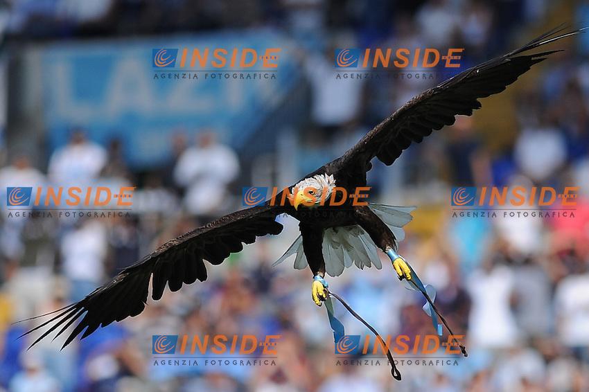 """la mascotte della lazio olimpia..roma 18-09-2011 """"stadio olimpico""""..calcio football serie a ..lazio genoa..foto insidefoto massimo oliva"""