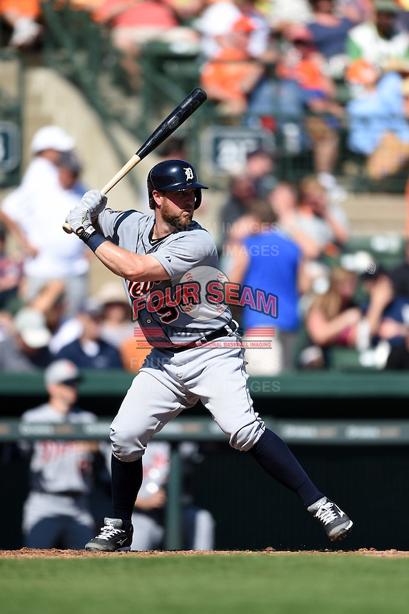 Detroit Tigers catcher Bryan Holaday (50) during a Spring Training game against the Baltimore Orioles on March 4, 2015 at Ed Smith Stadium in Sarasota, Florida.  Detroit defeated Baltimore 5-4.  (Mike Janes/Four Seam Images)