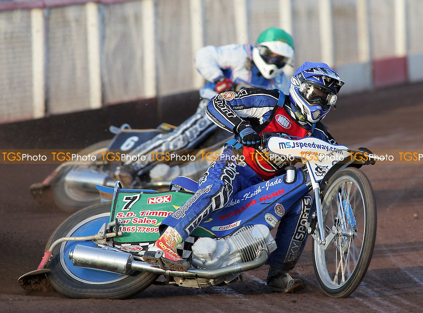 Heat 2 - Tomicek (blue), Smith - Lakeside Hammers vs Reading Bulldogs - Elite League Speedway at Arena Essex - 20/06/07 - MANDATORY CREDIT: Gavin Ellis/TGSPHOTO - SELF-BILLING APPLIES WHERE APPROPRIATE. NO UNPAID USE -  Tel: 0845 0946026