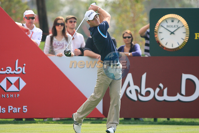 Martin Kaymer tees off on the 8th tee during Day 3 Saturday of the Abu Dhabi HSBC Golf Championship, 22nd January 2011..(Picture Eoin Clarke/www.golffile.ie)