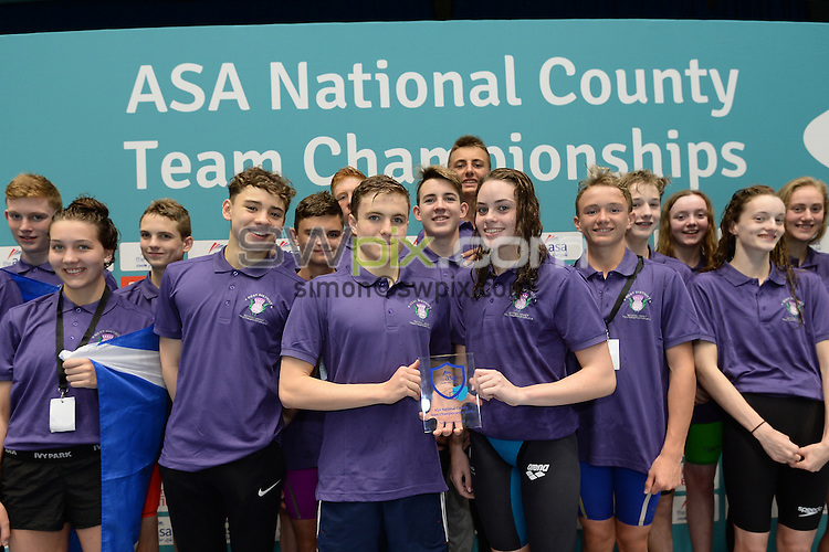 Picture by Anna Gowthorpe/SWpix.com - 23/10/2016 - Swimming - ASA National County Team Championships 2016 - Ponds Forge, Sheffield, England - Division Two winners Scotland West.